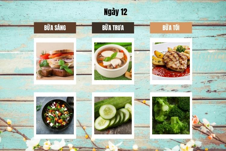 Thực đơn Wild Diet ngày 12