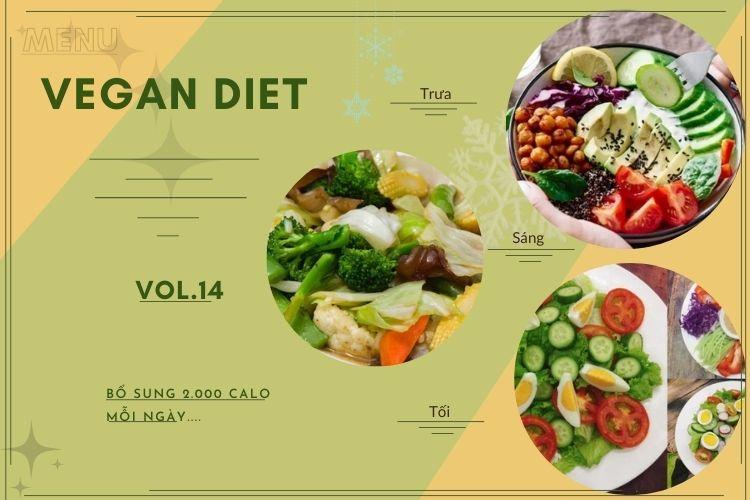 Thực đơn ăn kiêng Vegan diet (ăn thuần chay) ngày 14