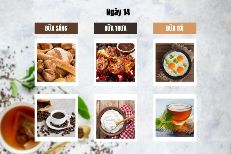 ăn kiêng theo chế độ phân ly ngày 14