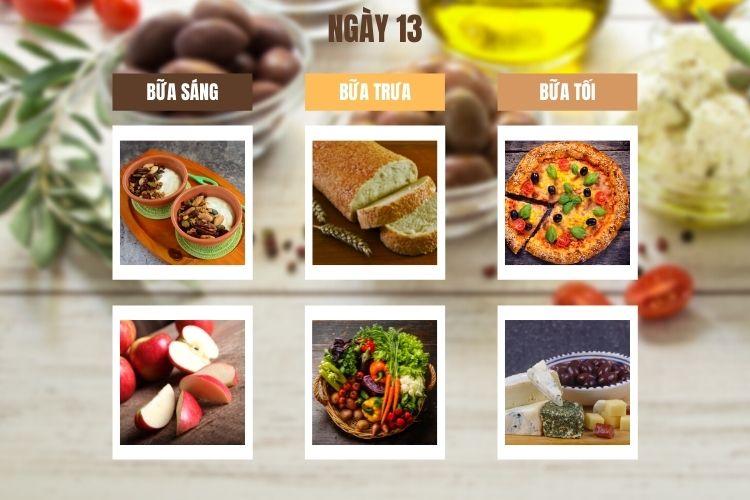Thực đơn ăn kiêng Địa Trung Hải ngày 13