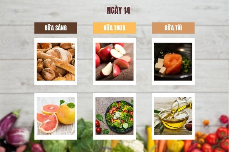 Thực đơn ăn kiêng Macrobiotic ngày 14