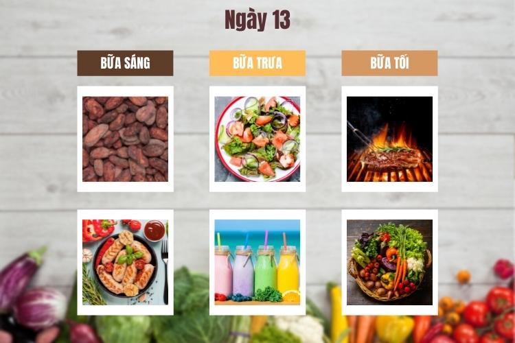 Thực đơn Wild Diet ngày 13