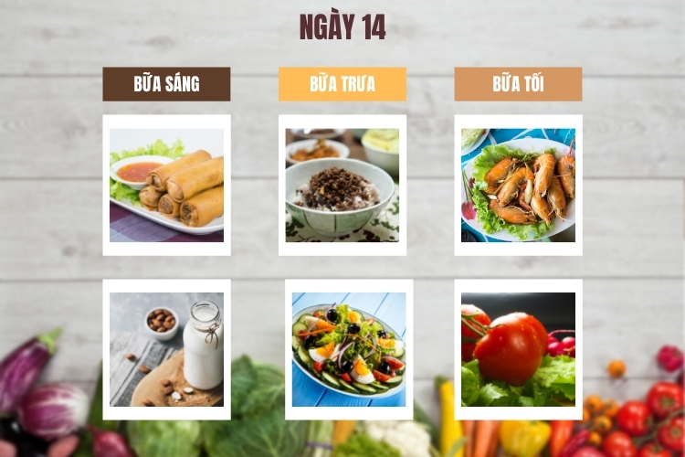 Thực đơn lowcarb giảm cân trong 14 ngày ngày 14