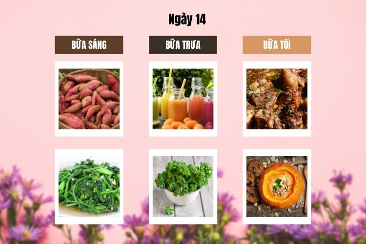 Thực đơn Wild Diet ngày 14
