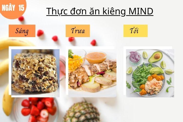 Thực đơn ăn kiêng Mind ngày 15