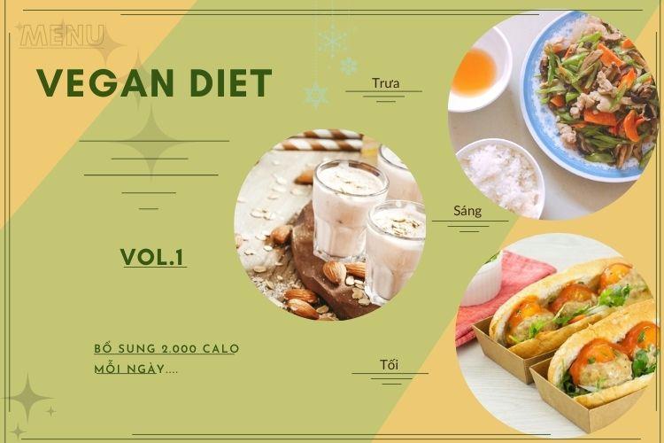 Thực đơn ăn kiêng Vegan diet (ăn thuần chay) ngày 1