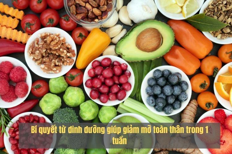 Dinh dưỡng giúp giảm mỡ toàn thân cho nữ trong 1 tuần