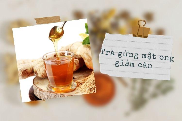 Cách làm trà gừng mật ong