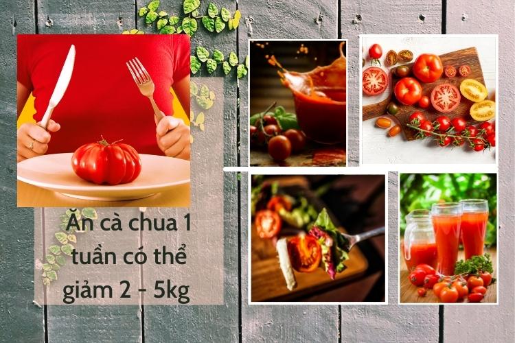 Ăn cà chua 1 tuần có thể giảm 2 - 5kg
