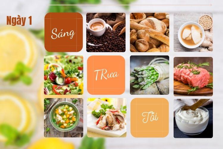 Thực đơn ăn kiêng để giảm 5kg trong 1 tháng ngày 1