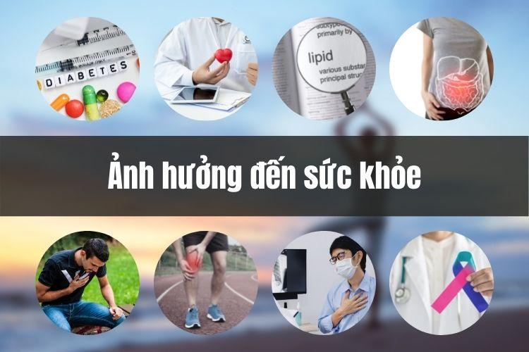 Nguy cơ tiềm ẩn của béo phì đối với sức khỏe