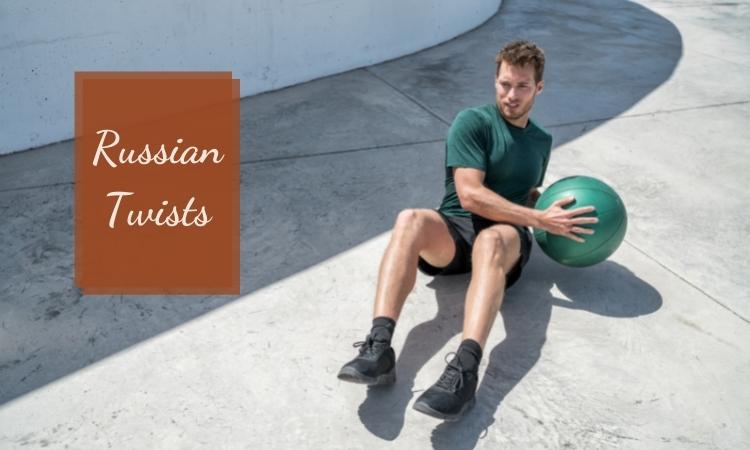 Các bài tập thể dục giảm mỡ bụng hiệu quả: Russian Twists