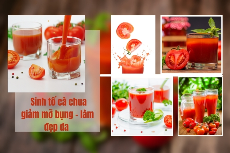 Sinh tố giảm mỡ bụng tại nhà cà chua