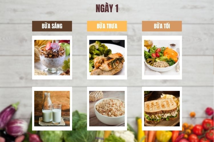 Thực đơn ăn kiêng 1.200 calo 14 ngày ngày 1