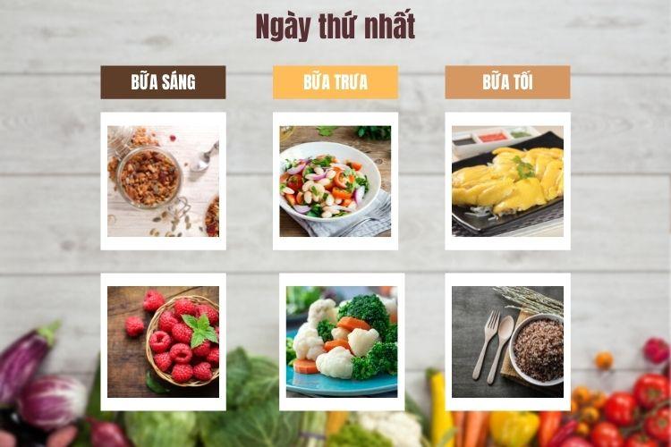 Thực đơn ăn kiêng Macrobiotic ngày 1