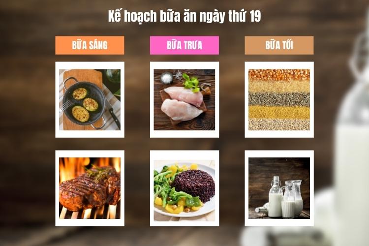 Kế hoạch bữa ăn ngày thứ 19