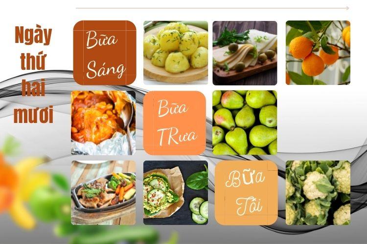 Thực đơn ăn kiêng Macrobiotic ngày 20
