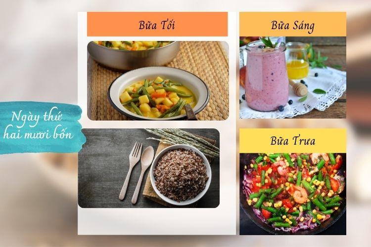 Thực đơn ăn kiêng Macrobiotic ngày 24
