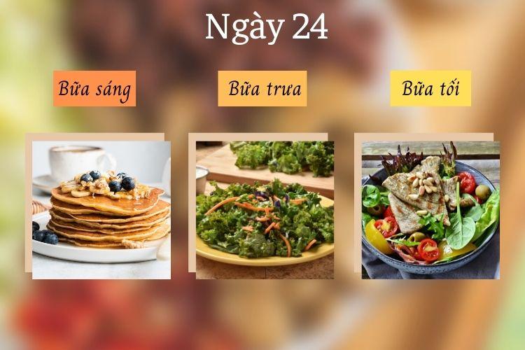 Thực đơn ăn kiêng Mind ngày 24