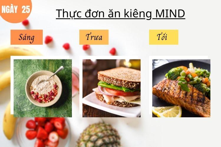 Thực đơn ăn kiêng Mind ngày 25