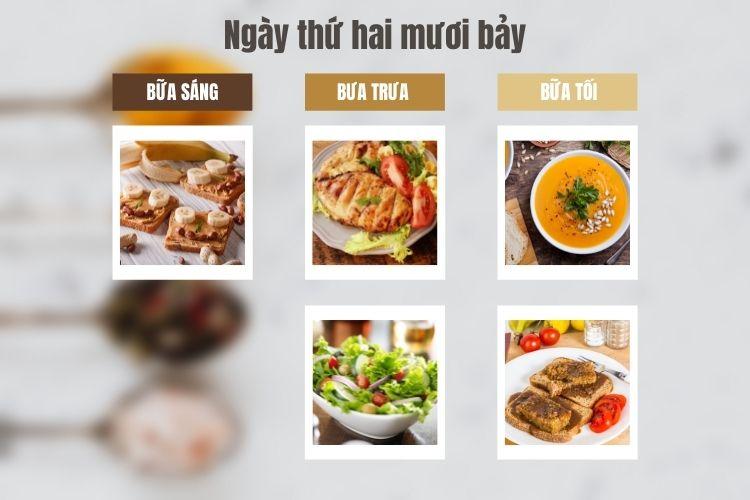 Thực đơn ăn kiêng Macrobiotic ngày 27