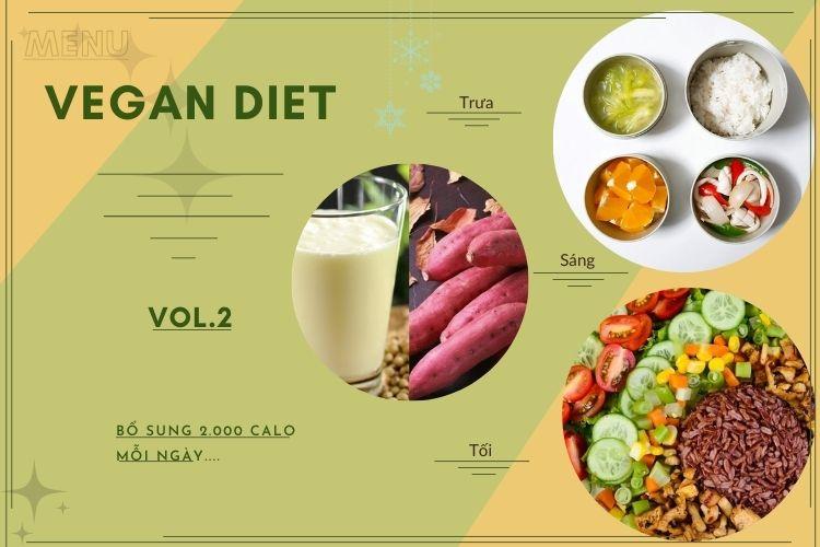 Thực đơn ăn kiêng Vegan diet (ăn thuần chay) ngày 2