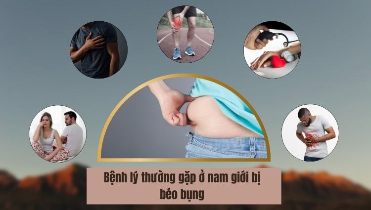 Béo bụng có thể gây ra nhiều bệnh nguy hiểm do mỡ chèn trong các cơ quan nội tạng