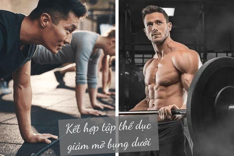 Kết hợp tập thể dục giảm mỡ bụng dưới