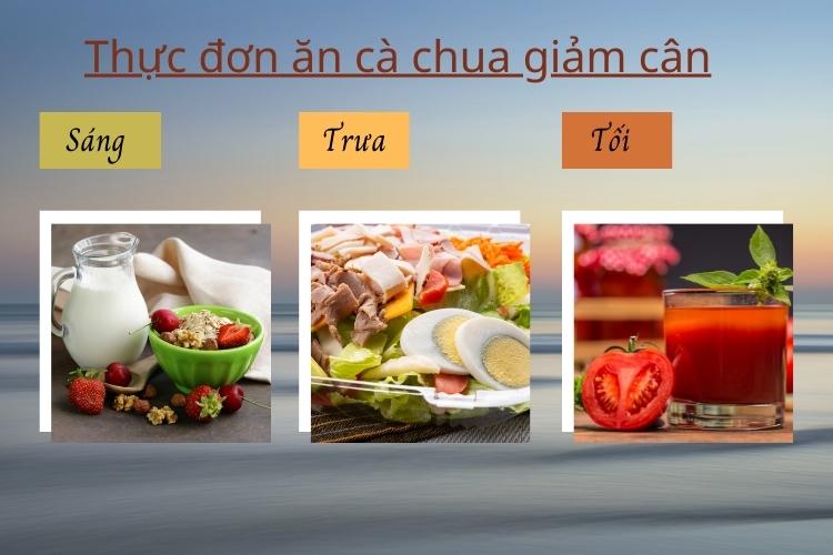 Thực đơn ăn cà chua giảm cân