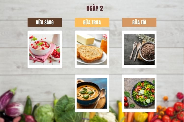 Thực đơn chế độ ăn kiêng chay ngày 2