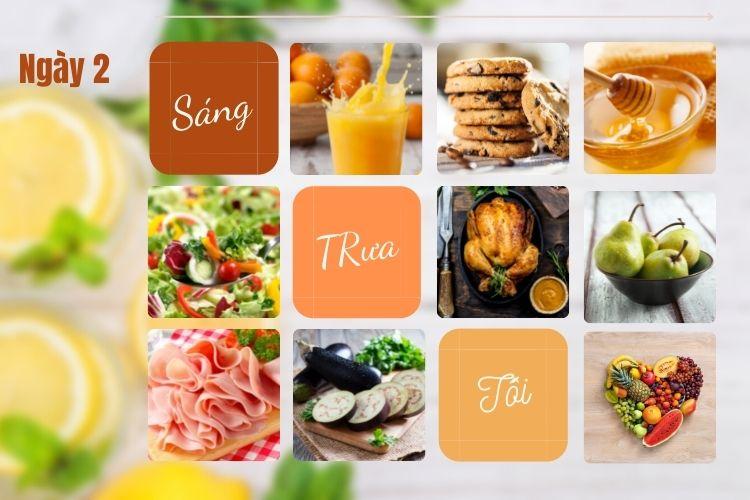 Thực đơn ăn kiêng để giảm 5kg trong 1 tháng ngày 2