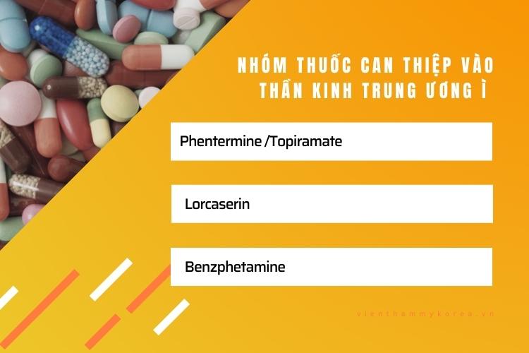 Loại thuốc này tác dụng chủ yếu là gây nên tình trạng chán ăn, hạn chế ăn vặt