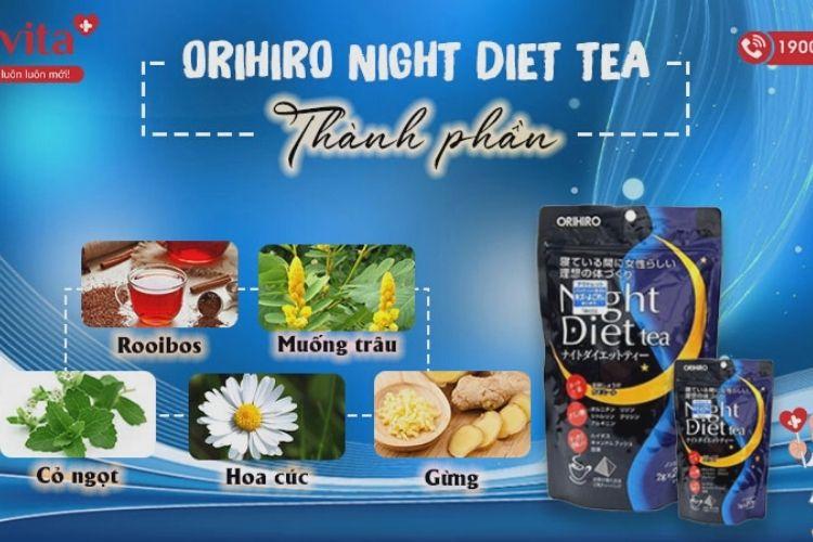 Thành phần của trà giảm cân Night Diet Tea
