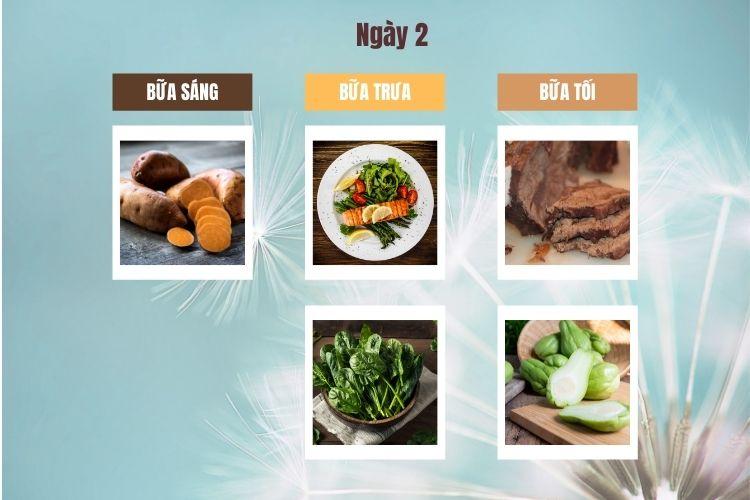 Thực đơn ăn kiêng low carb 7 ngày ngày 2
