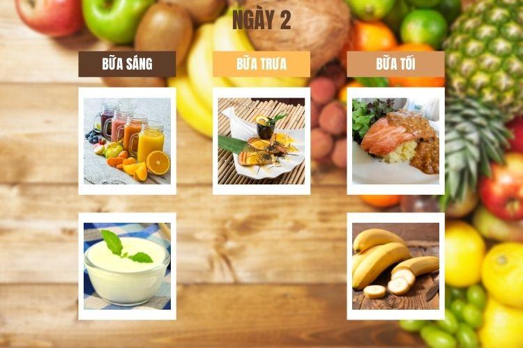 Thực đơn ăn kiêng 1200 calo ngày 2