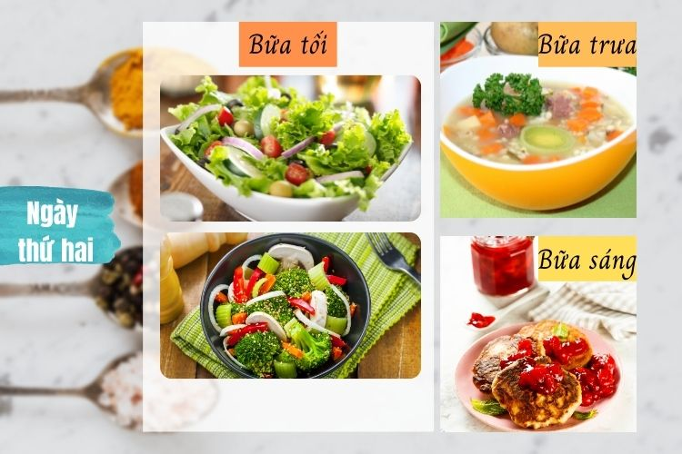 Thực đơn ăn kiêng Macrobiotic ngày 2