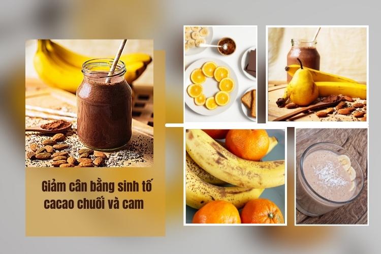Sinh tố cacao chuối cam là lựa chọn yêu thích của nhiều người