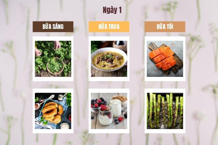 Thực đơn Wild Diet ngày 1