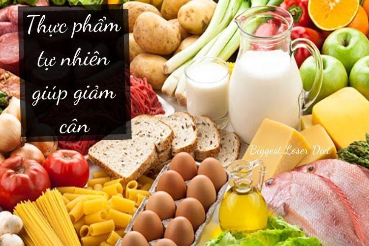 Thực phẩm tự nhiên giúp giảm cân
