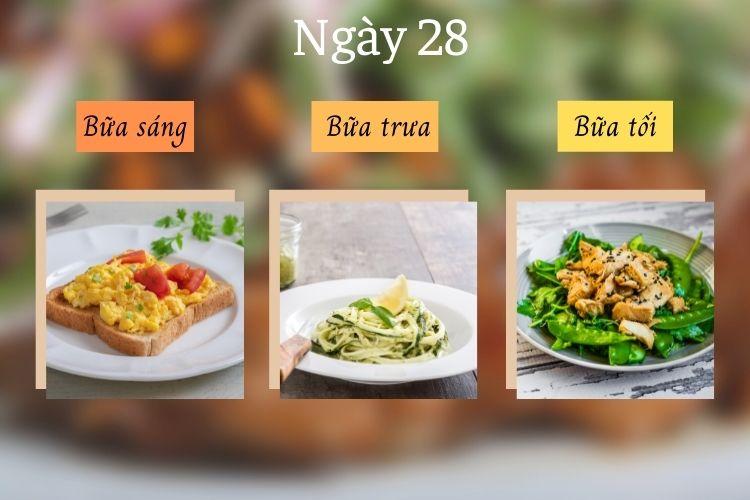 Thực đơn ăn kiêng Mind ngày 28