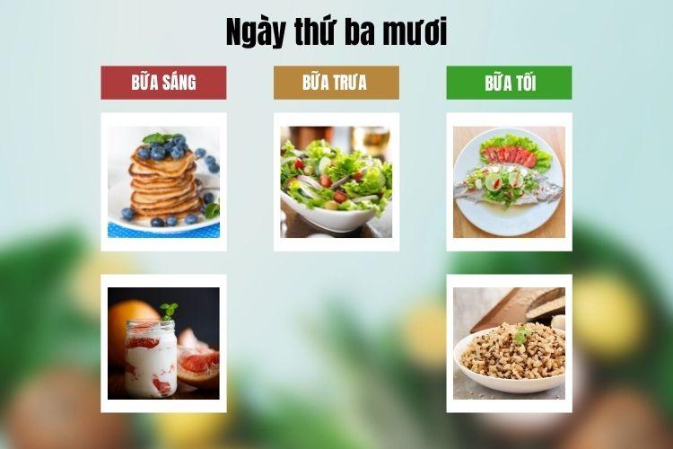 Thực đơn ăn kiêng Macrobiotic ngày 30
