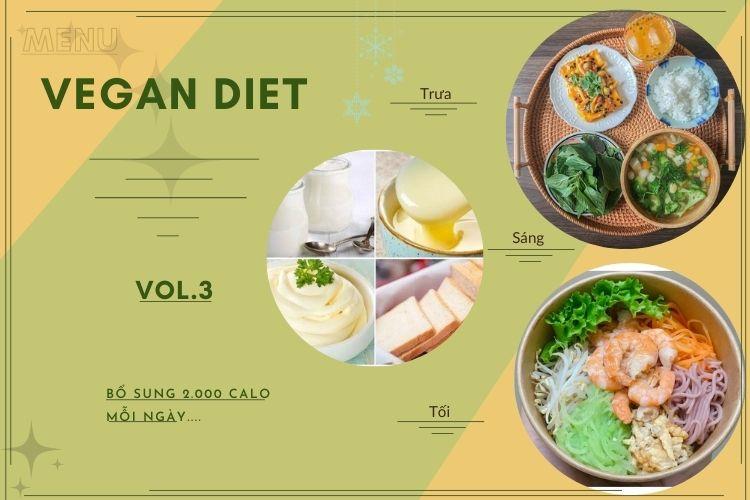 Thực đơn ăn kiêng Vegan diet (ăn thuần chay) ngày 3