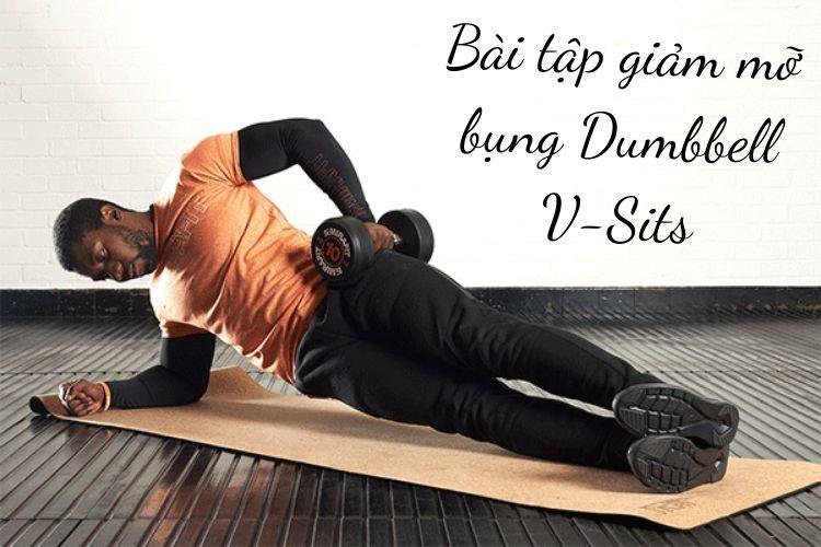 Bài tập giảm mỡ bụng Dumbbell V-Sits