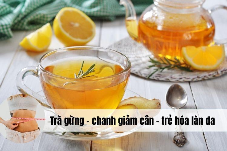 Cách làm trà gừng với chanh