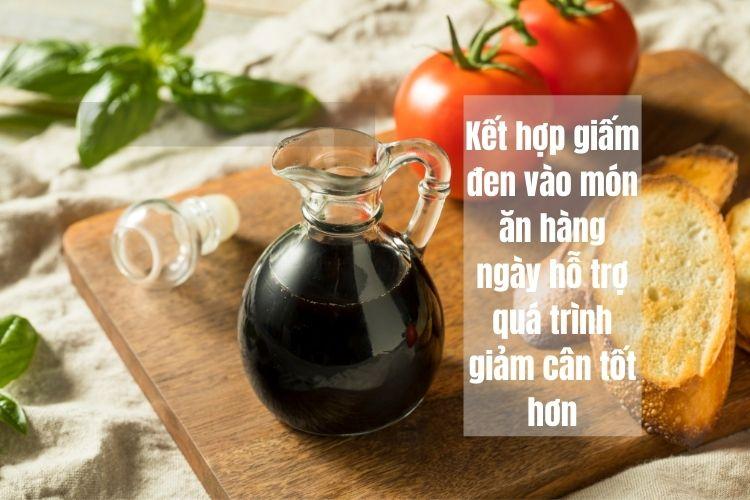 Chế độ sử dụng giấm đen giảm cân/ngày