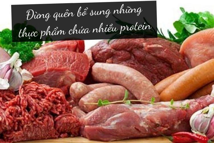 Protein đóng vai trò tăng cường trao đổi chất, đồng thời kích thích xây dựng cơ