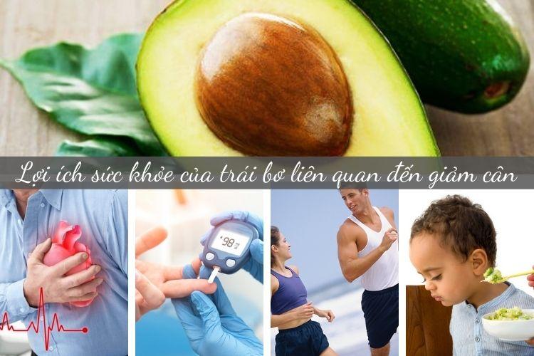 Lợi ích sức khỏe của trái bơ liên quan đến giảm cân