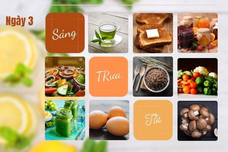 Thực đơn ăn kiêng để giảm 5kg trong 1 tháng ngày 3