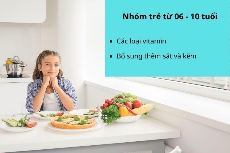 Thực phẩm giúp giảm cân cần bổ sung cho nhóm trẻ độ tuổi từ 06 - 10