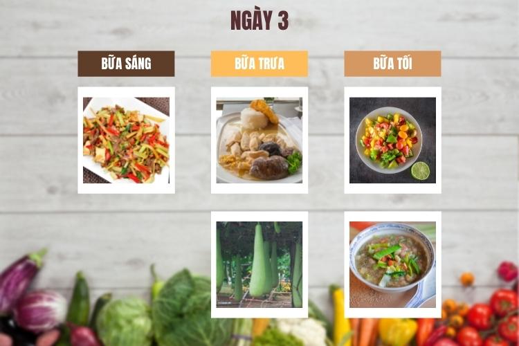 Thực đơn ăn kiêng low carb 7 ngày ngày 3